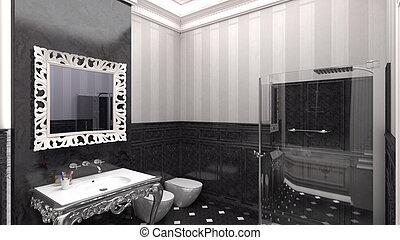 lnterior de un baño moderno
