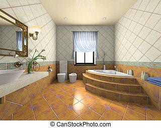 lnterior del baño moderno