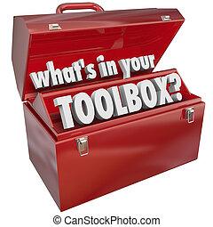 Lo que hay en tu caja de herramientas de metal rojo experiencia