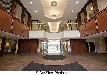 Lobby en el edificio de oficinas
