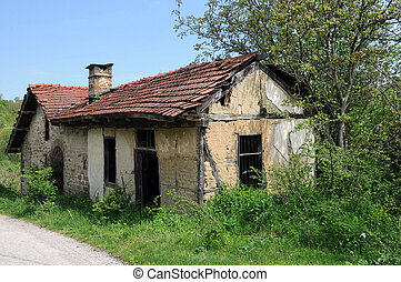 local, molino, extendido, abandonado