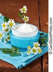 Loción de crema cosmética natural