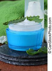 Loción de crema cosmética