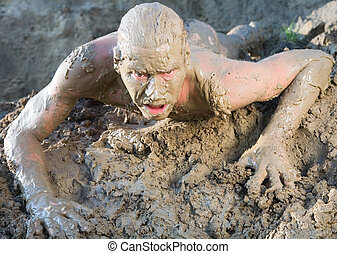 Lodo de hombre desnudo