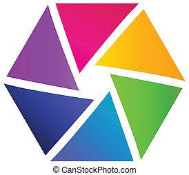 Logo abstracto de negocios