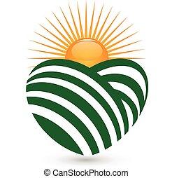 Logo de agricultura solar