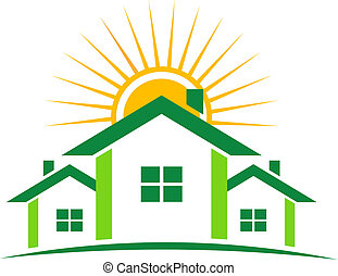 Logo de casas soleadas
