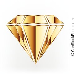 Logo de diamantes dorados