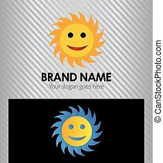 Logo de dibujos animados amarillos