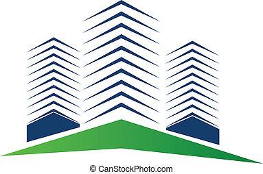 Logo de edificios inmobiliarios