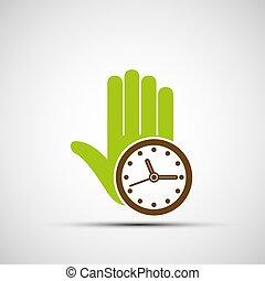 Logo de humanos y relojes.