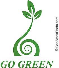 Logo de icono verde saludable