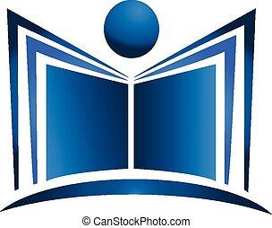 Logo de ilustración de libros