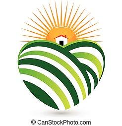 Logo de la casa de agricultura solar