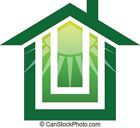 Logo de la casa solar