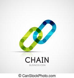 Logo de la compañía de iconos de conexión, concepto de negocios