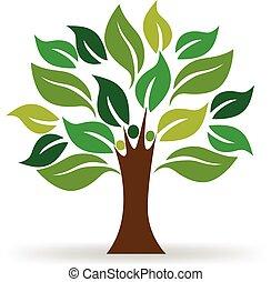 Logo de la ecología de los árboles
