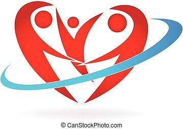 Logo de la familia del corazón