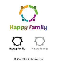 Logo de la familia feliz