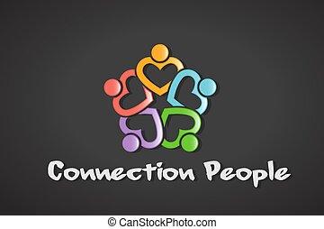Logo de la gente del corazón de conexión