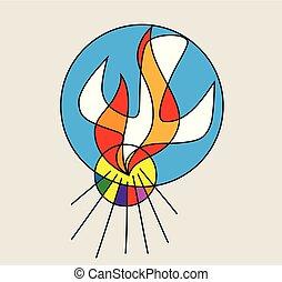 Logo de la línea de fuego del espíritu santo