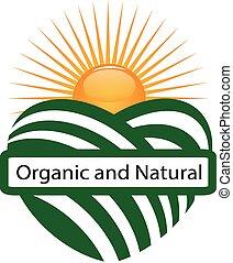 Logo de la marca orgánica de la agricultura solar