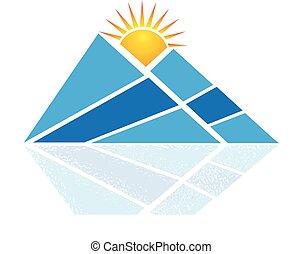 Logo de la montaña azul