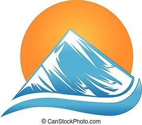 Logo de la montaña Sun