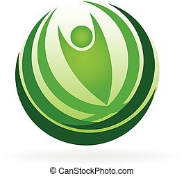 Logo de la naturaleza sana