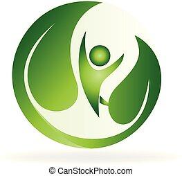 Logo de la naturaleza verde de la salud