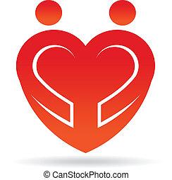 Logo de la pareja del corazón