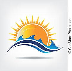 Logo de la temporada de mar y sol