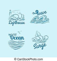 Logo de las olas del océano