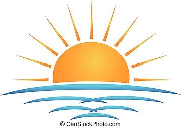 Logo de las olas del sol