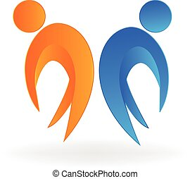 Logo de los socios felices