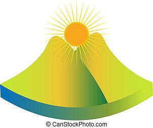 Logo de montaña verde