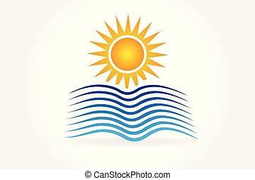 Logo de ondas solares