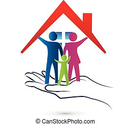 Logo de protección familiar