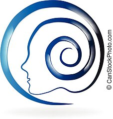 Logo de salud mental azul