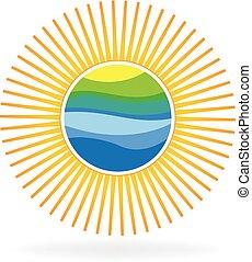 Logo de sol y playa.