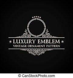 Logo de vector antiguo. Elemento de decoración caligráfico elegante