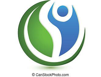 Logo del concepto de bienestar