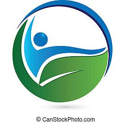 Logo del concepto saludable