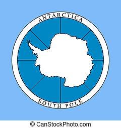 Logo del continente Antártico