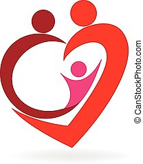 Logo del corazón de la familia