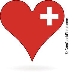 Logo del corazón médico