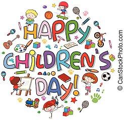Logo del día de los niños felices