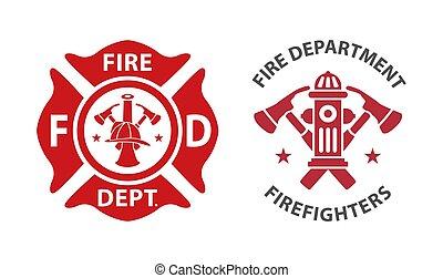 Logo del departamento de bomberos