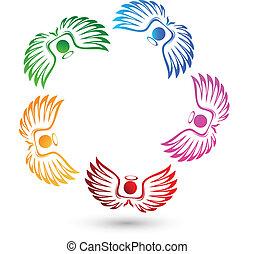 Logo del equipo de ángeles