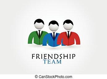 Logo del equipo de amistad